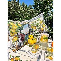 Скатерть тканевая гобеленовая лимоны 137 х 240 см, фото 3