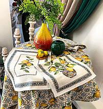 Скатерть тканевая гобеленовая лимоны 137 х 240 см, фото 2