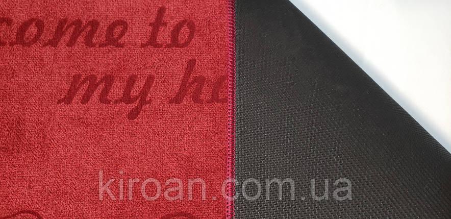 Універсальний килимок з поліестеру на спіненої гумі (лазерне гравіювання) Шерсть 45х75см (колір червоний), фото 2