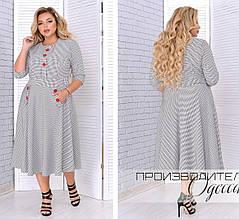 Модное женское платье с отрезной талией в 4-х цветах батал 50-62 размер, фото 2