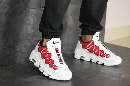 Кроссовки мужские Nike Air More Money,белые с красным, фото 2