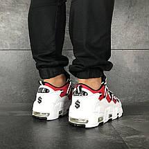 Кроссовки мужские Nike Air More Money,белые с красным, фото 3