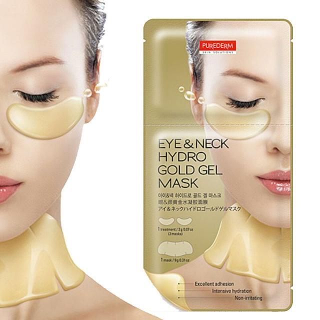 PUREDERM Eye & Neck Hydro Gold Gel Mask