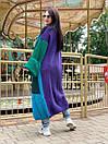Свободный женский кардиган вязаный длинный с широкими рукавами и большими карманами 58kar202, фото 3