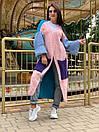 Свободный женский кардиган вязаный длинный с широкими рукавами и большими карманами 58kar202, фото 4
