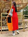Свободный женский кардиган вязаный длинный с широкими рукавами и большими карманами 58kar202, фото 6