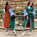 Свободный женский кардиган вязаный длинный с широкими рукавами и большими карманами 58kar202, фото 7