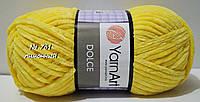 Велюровая (плюшевая) пряжа для вязания DOLCE YarnArt № 761 - лимонный