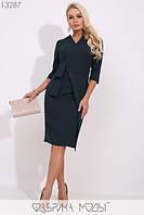 Элегантное молодёжное платье в деловом стиле S, M, L  размер