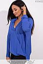 Женская свободная блуза на запах в больших размерах 1blr185, фото 3
