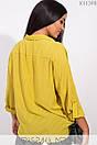 Женская свободная блуза на запах в больших размерах 1blr185, фото 9