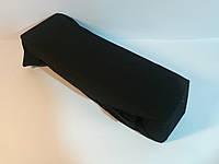 Черная простынь на резинке 140*200, Хлопок, трикотаж