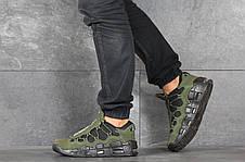 Кроссовки мужские Nike Air More Money,нубук,темно зеленые, фото 3