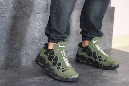 Кроссовки мужские Nike Air More Money,нубук,темно зеленые, фото 2