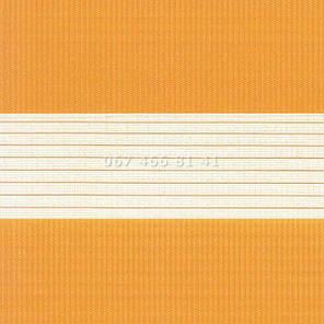 Тканевые ролеты Besta Uni с плоскими направляющими День-Ночь BH Orange 1207, фото 2