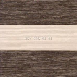 Тканевые ролеты Besta Uni с плоскими направляющими День-Ночь BH Wenge 81-18, фото 2