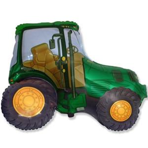Фольгированный шар Трактор 65см х 93см Зеленый