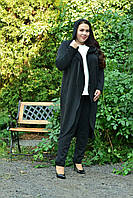Трикотажный легкий женский кардиган на запах в батале tez1015985, фото 1