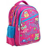"""Рюкзак шкільний YES S-23 """"Funny Birdies"""" рожевий 556245, фото 1"""