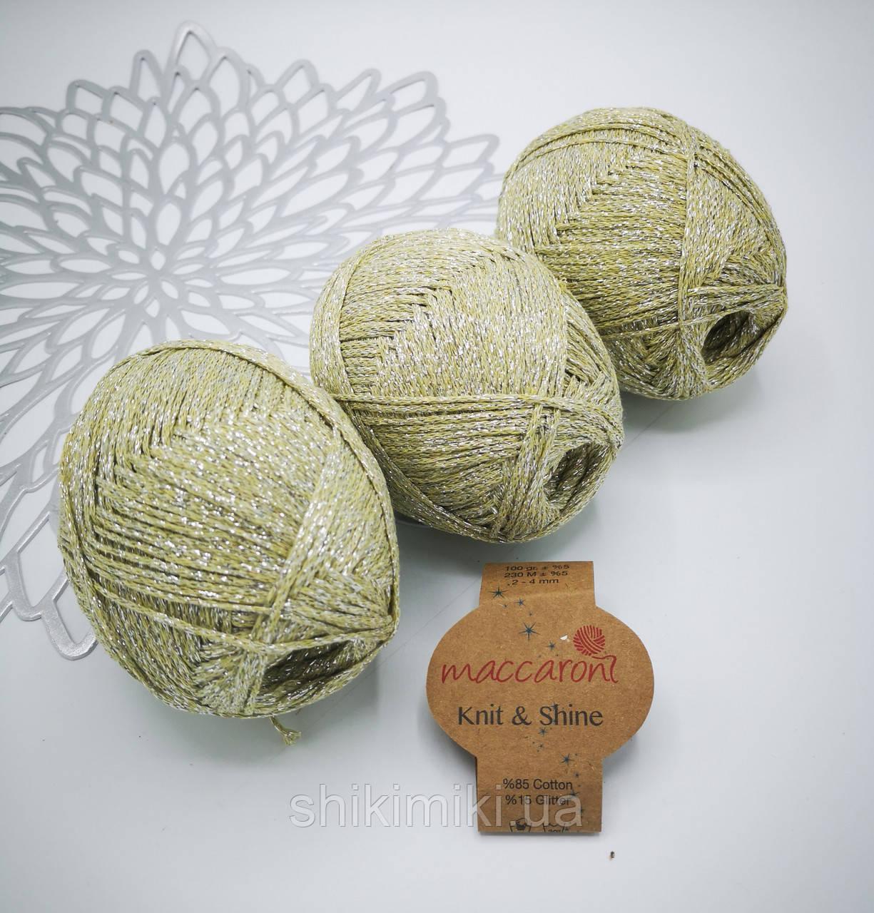 Трикотажный шнур с люрексом Knit & Shine, цвет Полыни