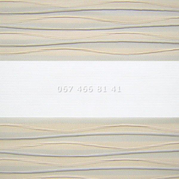 Тканевые ролеты Besta Uni с плоскими направляющими День-Ночь BH Beige 801