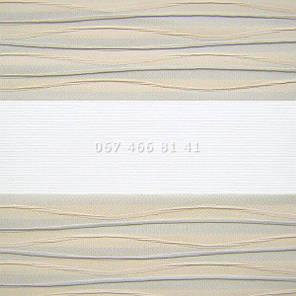 Тканевые ролеты Besta Uni с плоскими направляющими День-Ночь BH Beige 801, фото 2