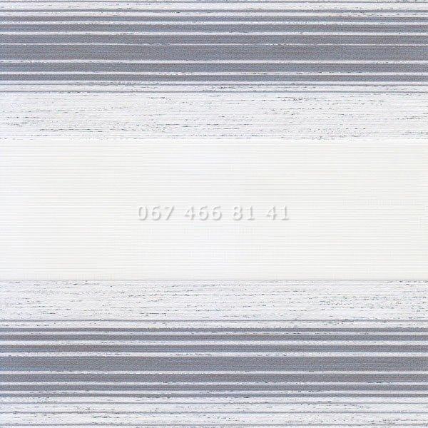 Тканевые ролеты Besta Uni с П-образными направляющими День-Ночь BH Grey 136-5