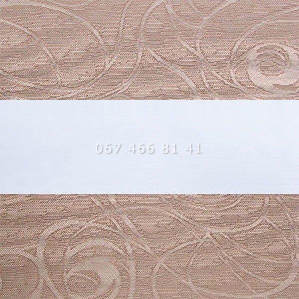 Тканевые ролеты Besta Uni с плоскими направляющими День-Ночь BH Cocoa 407