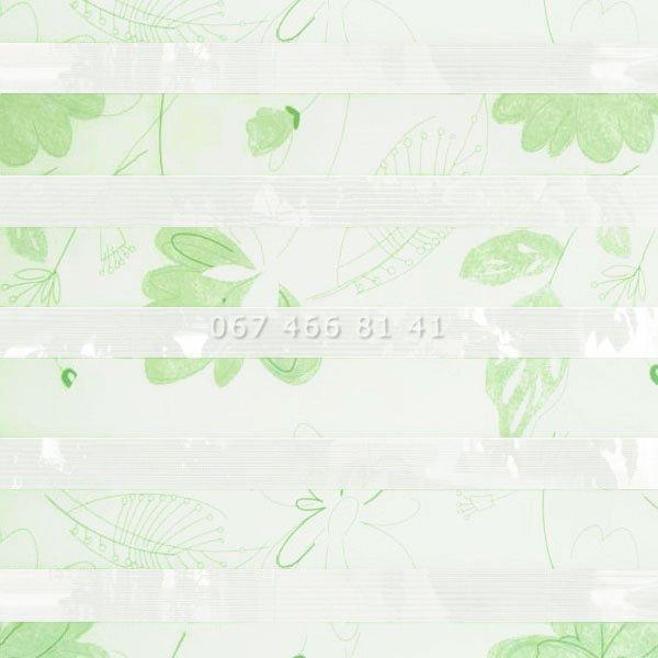 Тканевые ролеты Besta Uni с П-образными направляющими День-Ночь BH Spring 308