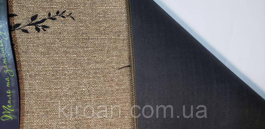 Универсальный коврик из полиестера на вспененной резине Лён 45х75 см, фото 2