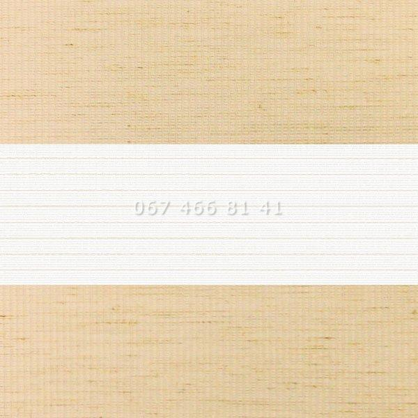 Тканевые ролеты Besta Uni с плоскими направляющими День-Ночь BH Flax Beige 09