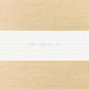 Тканевые ролеты Besta Uni с плоскими направляющими День-Ночь BH Flax Beige 09, фото 2