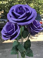 Декор Куст Гигантских Роз Сиреневые Продажа