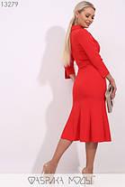 Модное молодёжное платье-миди с широким отложным воротником S, M, L  размер, фото 2