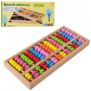 Деревянная игрушка Счеты, фото 2