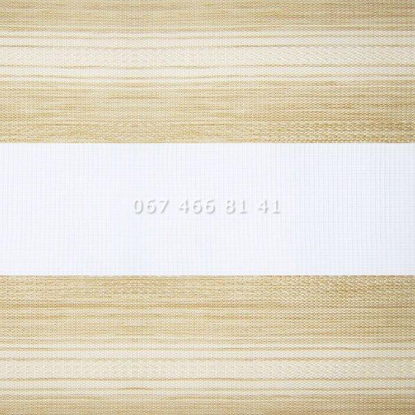 Тканевые ролеты Besta Uni с плоскими направляющими День-Ночь BH Cappuccino 601