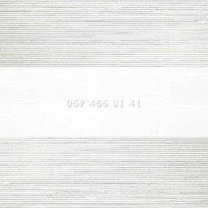 Тканевые ролеты Besta Uni с плоскими направляющими День-Ночь BH White 102, фото 2