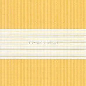 Тканевые ролеты Besta Uni с плоскими направляющими День-Ночь BH Yolk 1803, фото 2