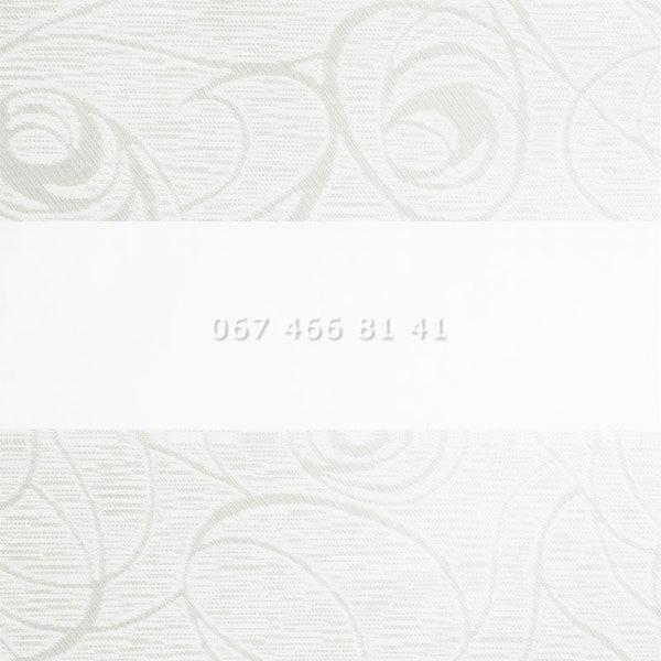 Тканевые ролеты Besta Uni с П-образными направляющими День-Ночь BH White 401