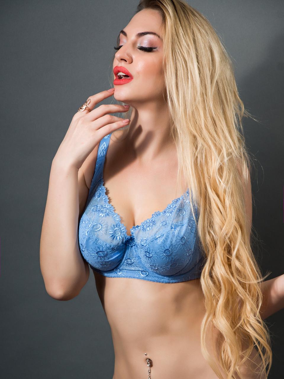 Бюстгальтер Diorella 38002E, колір Блакитний,  розмір 80E