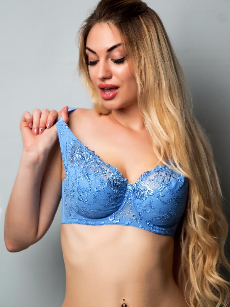 Бюстгальтер Diorella 38018D, цвет Голубой, размер 80D