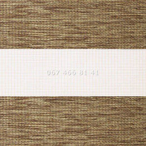Тканевые ролеты Besta Uni с плоскими направляющими День-Ночь BH Teak 34, фото 2