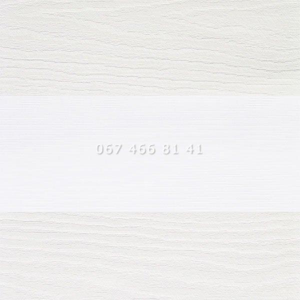 Тканевые ролеты Besta Uni с плоскими направляющими День-Ночь BH White 201