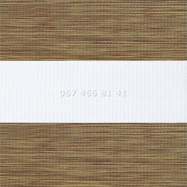 Тканевые ролеты Besta Uni с плоскими направляющими День-Ночь BH Oak 11
