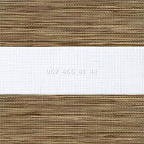 Тканевые ролеты Besta Uni с плоскими направляющими День-Ночь BH Oak 11, фото 2