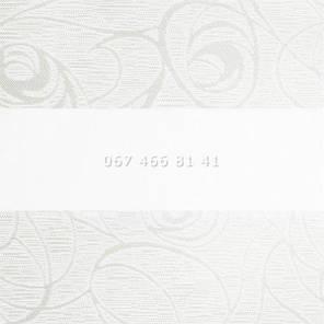 Тканевые ролеты Besta Uni с плоскими направляющими День-Ночь BH White 401, фото 2