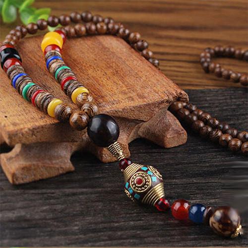 Тибетські дерев'яні намиста