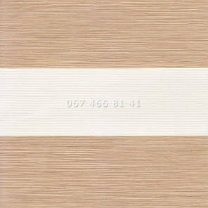 Тканевые ролеты Besta Uni с П-образными направляющими День-Ночь BH Beige 81-4, фото 2