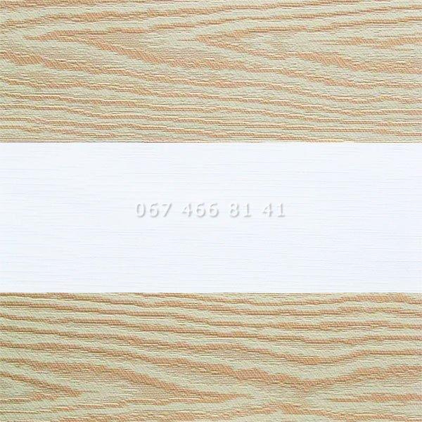 Тканевые ролеты Besta Uni с П-образными направляющими День-Ночь BH Copper 209