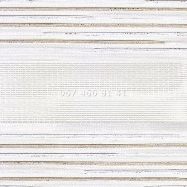 Тканевые ролеты Besta Uni с П-образными направляющими День-Ночь BH White 130-1